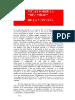 Notas sobre la divinidad de la montana - Evola, Julius.doc