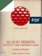 58414249 Cristina de Peretti Jacques Derrida Texto y Deconstruccion