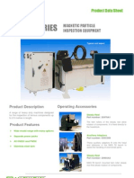 MAG 50 Series Magnetic Particle Inspection Equipment Product Data Sheet - English