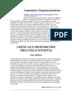 Críticas e Proposições Organizacionistas
