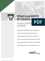 WhiteCross/NARUS IBI Solutions usage pattern analysis
