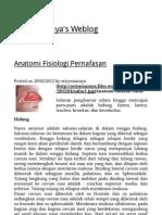 Anatomi Fisiologi Pernafasan « Setyo Mazaya's Weblog