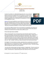 Getting the Most From Your Investment Committee