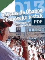 Fiestas de Obanos-eko Festak 2013. Programa-Egitaraua