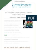 Como Diversificar Uma Carteira de Investimentos -1