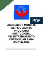 entrenamiento curricular en psiquiatría wpa