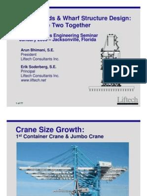 Crane Loads & Wharf Structure Design | Structural Load