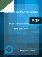 Plaquette partenariats BDE Polytech Montpellier
