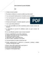 Modele Intrebari Economie Mondiala 2011-2012