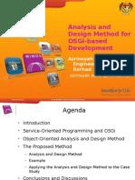Analysis and Design Method for Osgi-based Development-Azrinsyah Mirza Asfian