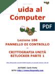 Guida al Computer - Lezione 106 - Pannello di Controllo -Crittografia unità BitLocker Parte 1