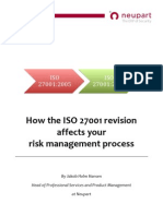How the ISO 27001 revision affects your risk management process