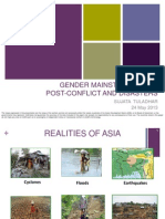 Gender Mainstreaming in Post Conlfict and Disasters - Sujata Tuladhar