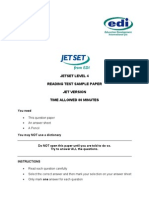 Jetset Level 4 Reading Sample (Jet Version)