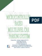 Microcontroller Based Multilevel Car Parking system