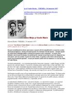14.01 Mircea Eliade – Ion Moţa şi Vasile Marin – VREMEA, 24 ianuarie 1937-citit