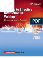 Guide Writing K 3