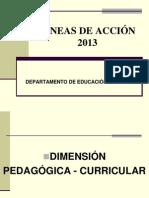 2013 - LINEAS DE ACCIÓN