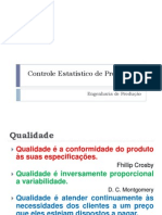 Controle Estatístico de Processos 2013