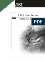 MSI P965 Neo Series Manual