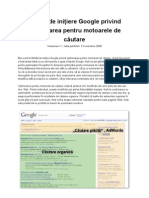 Ghid optimizare web Google