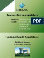 Teoria crítica da arquitetura 1