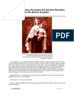 Our Lady of Fatima Promotes the Ancient Devotion to the Brown Scapular