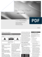 Blu-ray™ Disc Player - BD-F5100 user manual