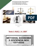 Metodo Economia e Eficiencia Nos Estudos