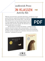 Jon Klassen Book Activity Kit
