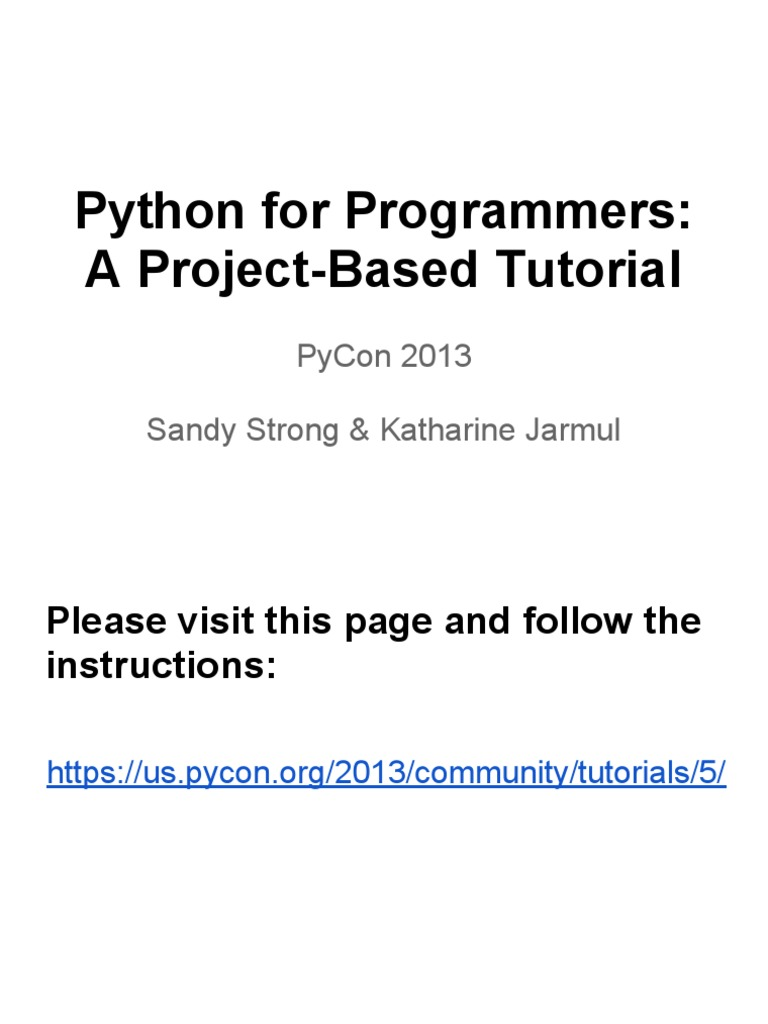 Python for Programmers- A Project-Based Tutorial | Class