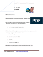 Eyes of Nye - Pseudoscience Worksheet