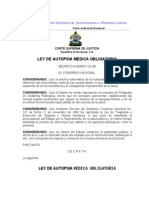 Ley de Autopsia Medica Obligatoria (Actualizada-07)