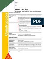 3.2.3. Sigunita-L63 AFS