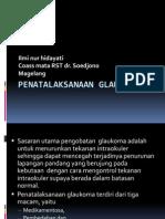 Penatalaksanaan Glaukoma