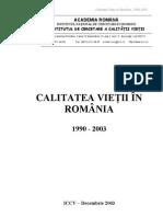 calitatea vietii in romania