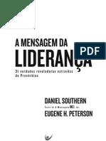 Livro eBook a Mensagem Da Lideranca