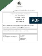 Suppl Exam Paper Nov2010,Smt211t