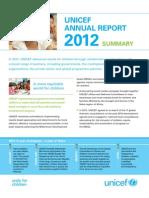 Unicef - Annual Report 2012 Summary - World's Children