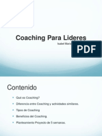 Coaching Para Lideres - Diplomado INAP MP