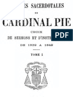 OEuvres Sacerdotales Du Cardinal Pie (Tome 1)