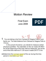 Motion Review Answers June 2009 WIKI