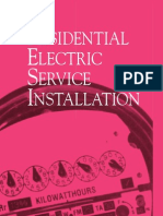 RESIDENTIAL ELECTRIC SERVICE INSTALLATION