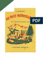 Langue Française Garnet. L 02b CE1-CE2 (2 Edition) Au Pays Merveilleux  1965