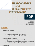 Income and Cross Elasticity of Demand