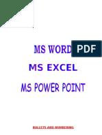Computer Ms- Word, Excel