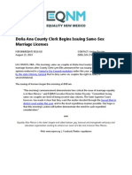 Doña Ana County Clerk Begins Issuing Same-Sex Marriage Licenses