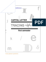 Tracing Alphabet Capital Letter