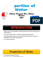 The Properties of Water Presentation