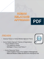Human relations approach theories